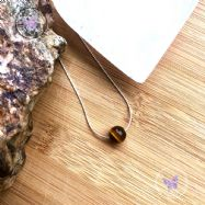 Tiger Eye Fine Sterling Silver Necklace